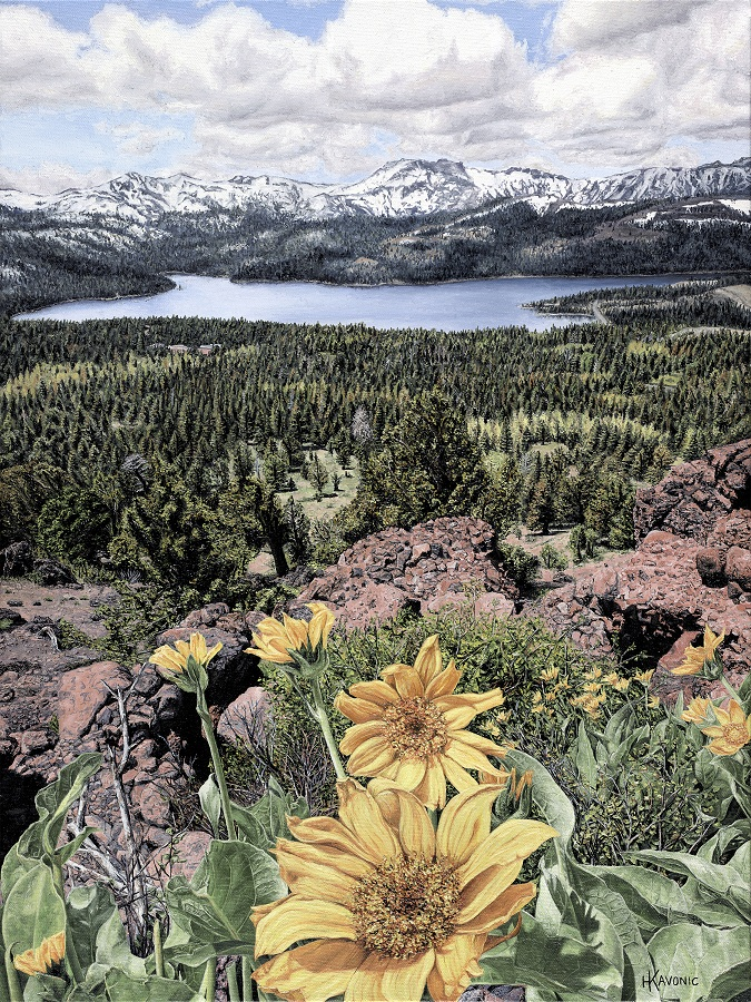 """Sierra Encounter"" 18x24"" Limited Edition Giclee Prints available. Copyright Holly Kavonic"