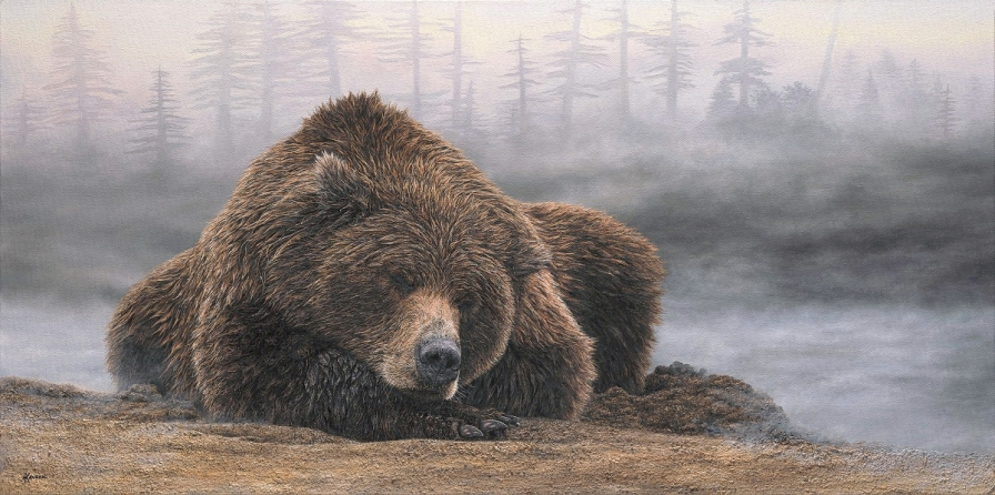 """Slumber"" 20x40"" Limited Edition Giclee Prints available. Copyright Holly Kavonic"